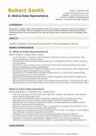 Medical Sales Representative Resume Samples Qwikresume