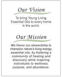 my vision statement sample young living mission statement tiffany rowan