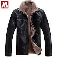 plus size 4xl fur lined leather jacket and coats brand designer mens fur leather winter jackets