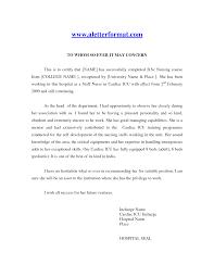 Best Solutions Of Sample Reference Letter For Nurse Sample Resume