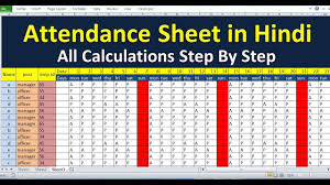 attendance spreadsheet excel how to maintain attendance sheet in ms excel in hindi how to make