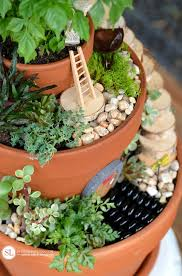make flower pot fairy gardens michaelsmakers