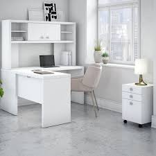 kathy ireland officebush echo 4 piece l shape desk office regarding contemporary household white l shaped desk with hutch ideas