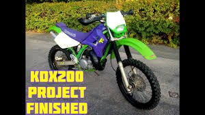 Kdx 200 Light Kit 1996 Kdx200 Project Bike Finished For Now