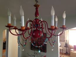 refurbished brass chandelier