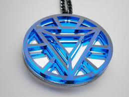 Iron Man Heart Arc Necklace Heart Arc Reactor Pendant