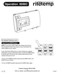 ritetemp thermostats 8050c pdf user s manual preview ritetemp 8050c manual