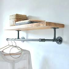 wall mounted clothing rod shelf clothes rack 3 in closet with