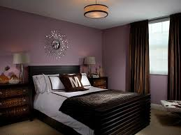 purple and brown bedroom with sunburst