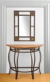 half table for hallway. Furniture:Good Looking Half Moon Entry Table Hallway Tables Lowes Canada Cappuccino Finish Console Sofa For