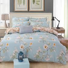 flower bed linen fl bedding set queen king size duvet comforter bed covers flat sheets pillowcase bedspread for couple white duvet cover teal