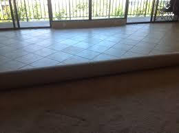 porcelain tile and carpet