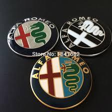 alfa romeo logo black and white. 2pcs black white red new 74mm alfa romeo car logo emblem badge sticker for alfa romeo and