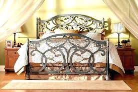 wrought iron king bed. Iron King Bed Frame Wrought Size S Black Headboards
