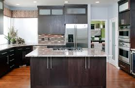 cabinet handles for dark wood. Pretty White Springs Granite Mode Portland Contemporary Kitchen Decorating Ideas With Baseboards Blue And Brown Wall Dark Wood Cabinets Door Handles Cabinet For C