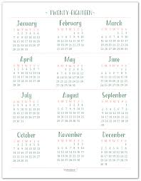 2018 Dated Yearly Calendar Printables Are Here