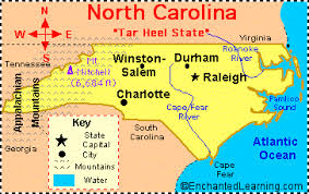 north carolina facts, map and state symbols enchantedlearning com A Map Of North Carolina state abbreviation nc state capital raleigh largest city charlotte area 53,821 square miles [north carolina is the 28th biggest state in the usa] a map of north carolina cities
