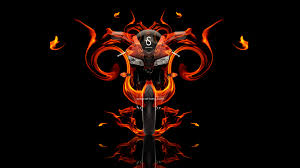 honda cbr600rr fire abstract moto
