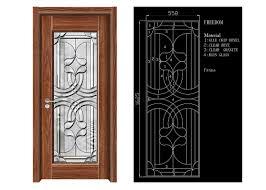 inteiror door architectural decorative glass clean bevelled glass door panels