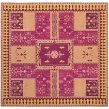 purple and gold rug classic vintage fuchsia gold 6 ft x 6 ft square area rug