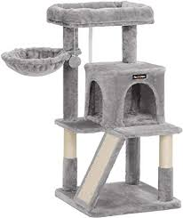 FEANDREA <b>Cat Tree</b> Condo with <b>Sisal</b>-Covered Scratching Posts ...