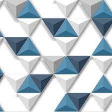 Muriva Triangle Pattern Wallpaper ...