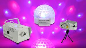 Laser Light Party Machine Ibiza Portable Party Dj Led Light Club Laser Disco Ball Smoke Fog Machine Pack