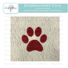 Panther Paw Embroidery Design Paw Print Embroidery Design