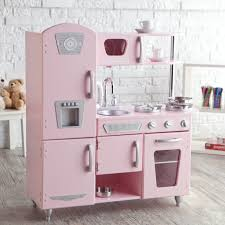 Pink Kitchen Kidkraft Vintage Wooden Play Kitchen In Pink Walmartcom