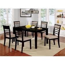 harnish wooden 7 piece counter height dining table set