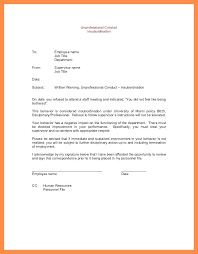 Sample Disciplinary Letter Employee Warning For Insubordination