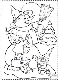 Sneeuwpop Maken Kleurplaten Kerst