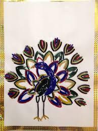 Design With Broken Bangles Bangle Art Peacock Made From Broken Bangles Art Art