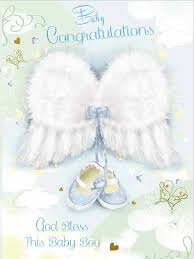 Congratulations For A Baby Boy Individual Card Baby Boy Congratulations Glitter Wings Cdb4513e