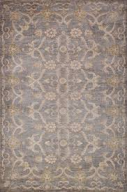 details about traditional hand knotted modern area rug grey ivory color 100 wool rugs 6 x 9