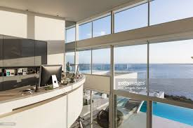 home office luxury home. Brilliant Office Modern Luxury Home Showcase Interior Office With Sunny Ocean View   Stock Photo And Home Office Luxury G