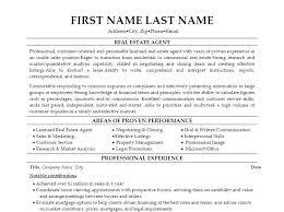 Real Estate Sales Resume Real Estate Broker Resume Real Estate