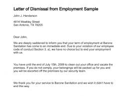 letter of dismissal how to write a termination letter to an employer