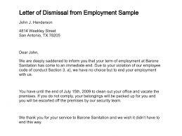 Termination Letter Description Stunning Letter Of Dismissal