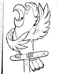 Free Coloring Page For Preschool Coloring Pages Of Parrots Parrot