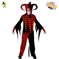 2018 Menu0027s Evil Jester Clown Costumes Masquerade Halloween Party Scary  Clown Suit Imitation Party Cosplay Evil Clothing