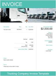 Trucking Invoice Template Free Download Send In Minutes