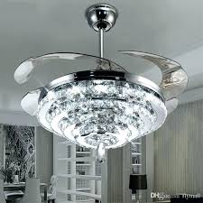 ceiling fan chandelier fans led crystal lights invisible combo combination in
