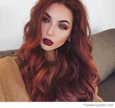 very long red hair with a nice red