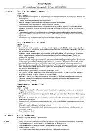 Corporate Security Resume Samples Velvet Jobs