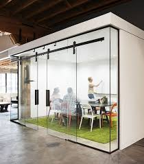 Glass conference rooms Stock Our New Ragnar Sliding Door Design Used In Glass Conference Room Here In Our Portland Or Headquarters Krownlabs Sliding Barn Door Hardware Fits In From Cushing Our New Ragnar Sliding Door Design Used In Glass Conference Room
