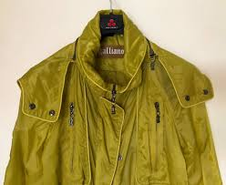 galliano jacket parka trench coat waterproof