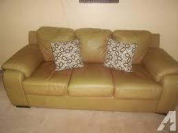 leather sofa bed for sale. Elegant Jennifer Leather Sofa Tan Bonded Bed Used For Sale In O
