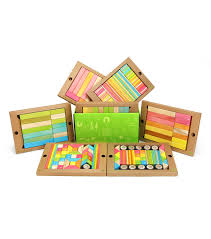 tegu magnetic wooden blocks classroom kit in tints 240 piece