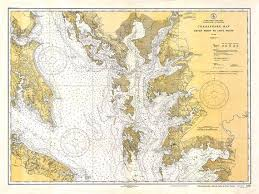 Historical Nautical Charts For Sale Vintage 1934 Nautical Chart Of Chesapeake Bay Historical